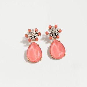 J CREW | Pavé Flower Drop Earrings
